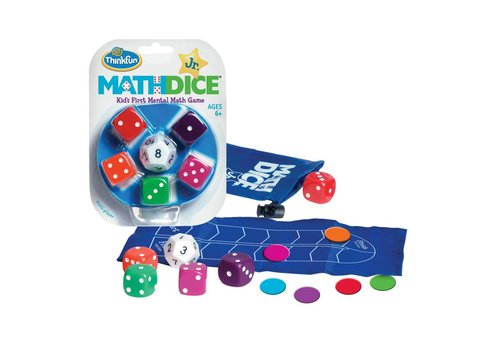 THINK FUN Math Dice Jr - A Dice Game that Makes Math Fun