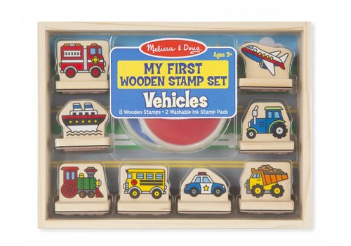 Melissa & Doug PRIMARY WOODEN STAMP SET - VEHICLES