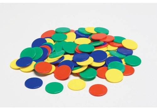 Didax Color Counters, 4 Clrs, 100