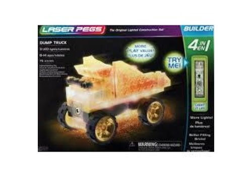 LASER PEGS VENTURES Laser Pegs - DUMP TRUCK 4 in 1