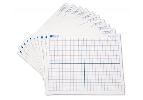 Learning Resources Double-Sided (X, Y Axis) Dry-Erase Mats (Set/10)