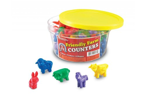 Learning Resources Friendly Farm Animal Counters, Set of 72