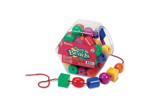 Learning Resources Plastic Lacing Beads