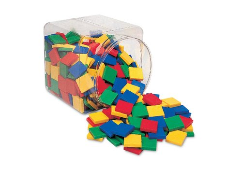 Learning Resources Square Color Tiles, Set of 400
