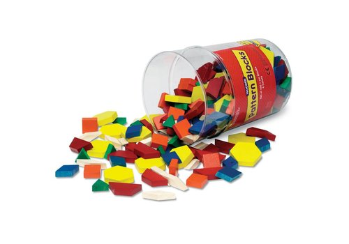 Learning Resources 1 cm Wooden Pattern Blocks, Set of 250