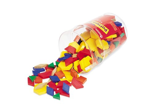 Learning Resources 1 cm Plastic Pattern Blocks, Set of 250