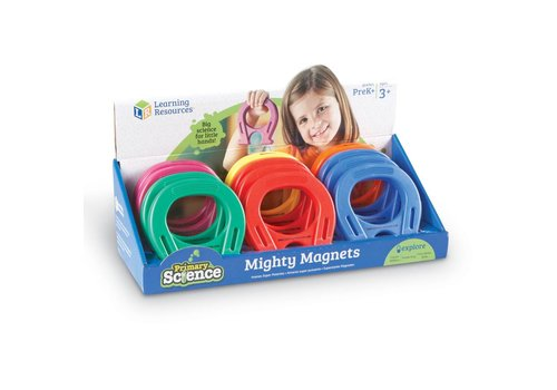 "Learning Resources Primary Science 5"" Mighty Magnets, Set of 12"