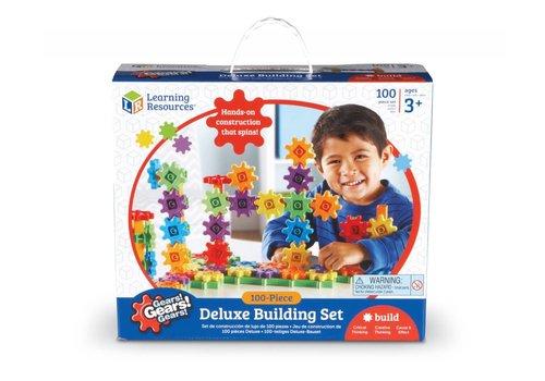 Learning Resources Gears! Gears! Gears! 100-Piece Deluxe Building Set