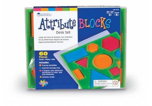 Learning Resources Attribute Blocks Desk Set Brights