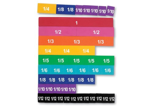 Learning Resources Rainbow Fraction Tiles, Soft Foam Magnetic