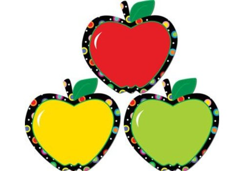 "Creative Teaching Press Poppin' Patterns Apples 6"" Cut Outs"