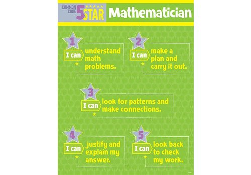 Creative Teaching Press 5 Star Mathematician Chart