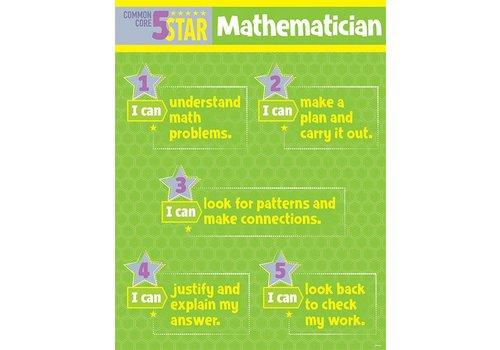 Creative Teaching Press 5 Star Mathematician Chart