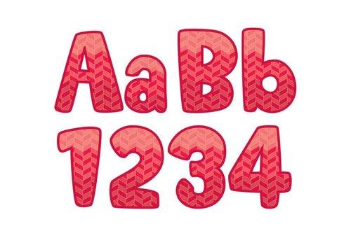 "Creative Teaching Press Painted Palette Ombre Poppy Red Herringbone 4"" Designer Letters"