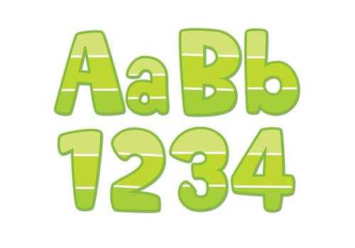 """Creative Teaching Press Painted Palette Lime Green Paint Chip 4"""" Designer Letters"""