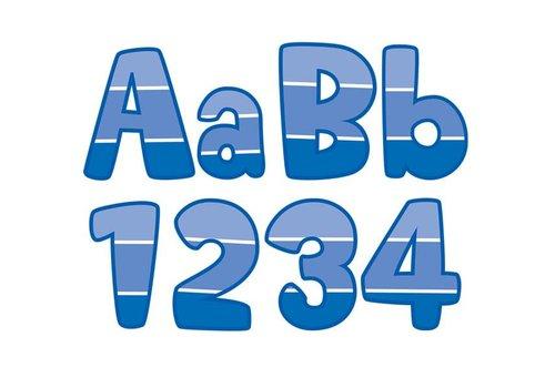 "Creative Teaching Press Painted Palette Blue Paint Chip 4"" Designer Letters"