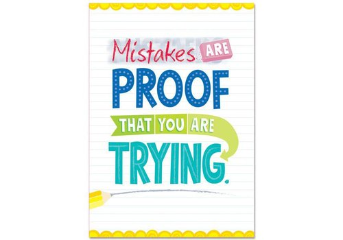 Creative Teaching Press Mistakes are proof... Inspire U Poster