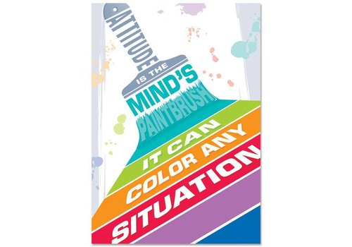 Creative Teaching Press Attitude is the mind's paintbrush... Inspire U Poster