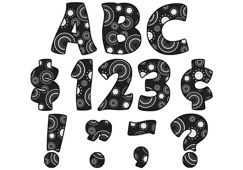 """Teacher Created Resources Crazy Circles Funtastic 4"""" Letters Uppercase Pack"""