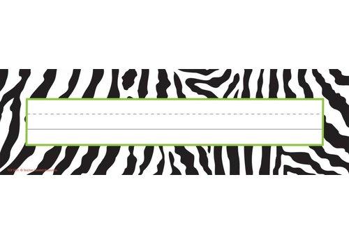 "Teacher Created Resources Zebra Name Plates 11 1/2"""