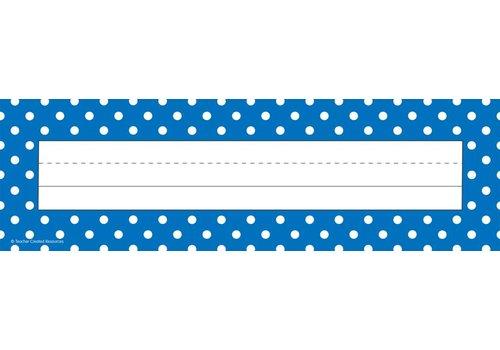 Teacher Created Resources Blue Polka Dots Flat Name Plates