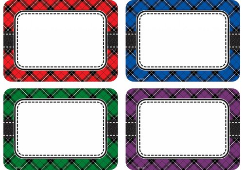 Teacher Created Resources Plaid Variety Pack Labels/Nametags