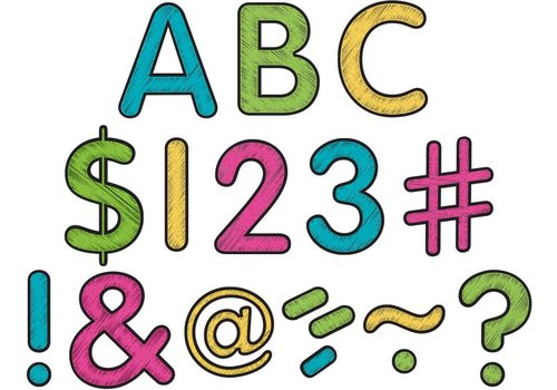 """Teacher Created Resources Chalkboard Brights Classic 2"""" Letters Uppercase Pack"""