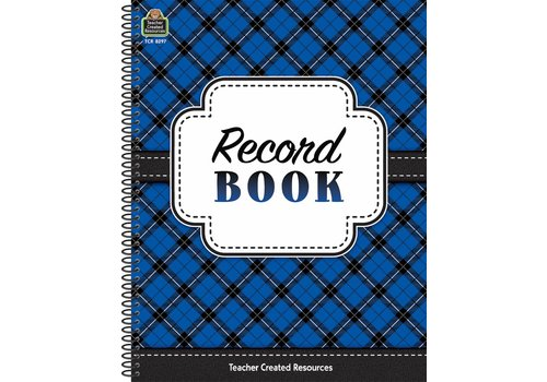Teacher Created Resources Plaid Record Book