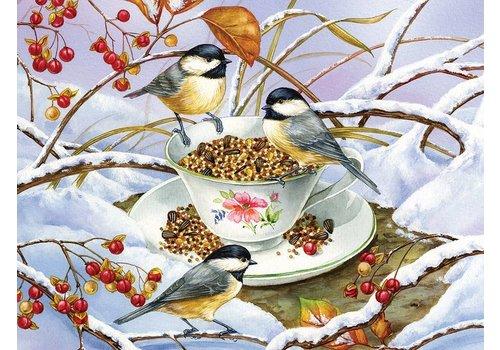 COBBLE HILL Chickadee Tea - 275 pc jigsaw puzzle
