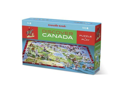 Crocodile Creek Discover Canada Puzzle 100 pieces