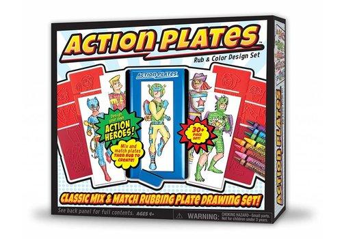 Action Plates Rub & Color Design Set