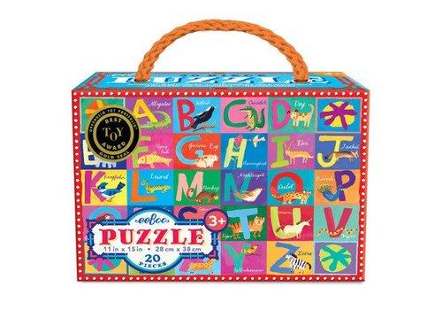 Eeboo Animal Alphabet Puzzle - 20 pieces