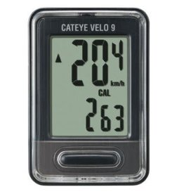 Cat Eye Velo 9 (CC-VL80), Cyclometre, Noir