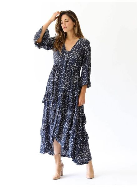 Ganni Barra Crepe Dress
