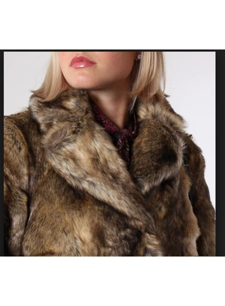 just female Just Female Enzo Faux Fur Coat