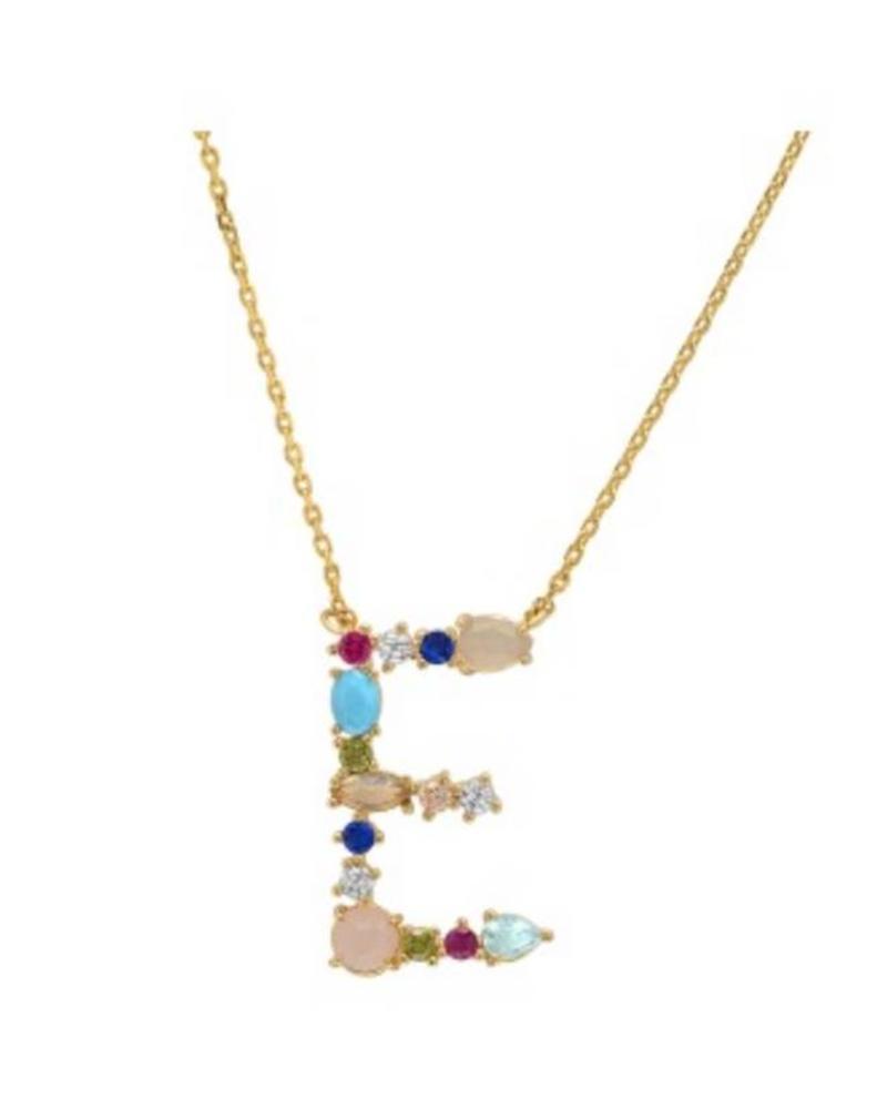 Tai Rittichai Tai - Stone Encrusted Monogram Necklace