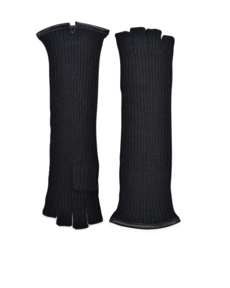 Carolina Amato Cashmere Rib Fingerless Glove