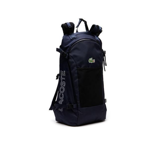 Lacoste Lacoste Black Blue Depth Large Backpack 2017