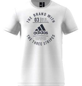 Adidas Adidas Emblématique three Stripes chandail blanc