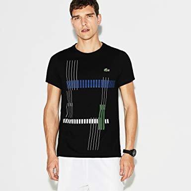 Lacoste T-Shirt Lacoste noir/océane-vert-blanc