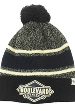 Fairfax Black Pouf Knit Hat