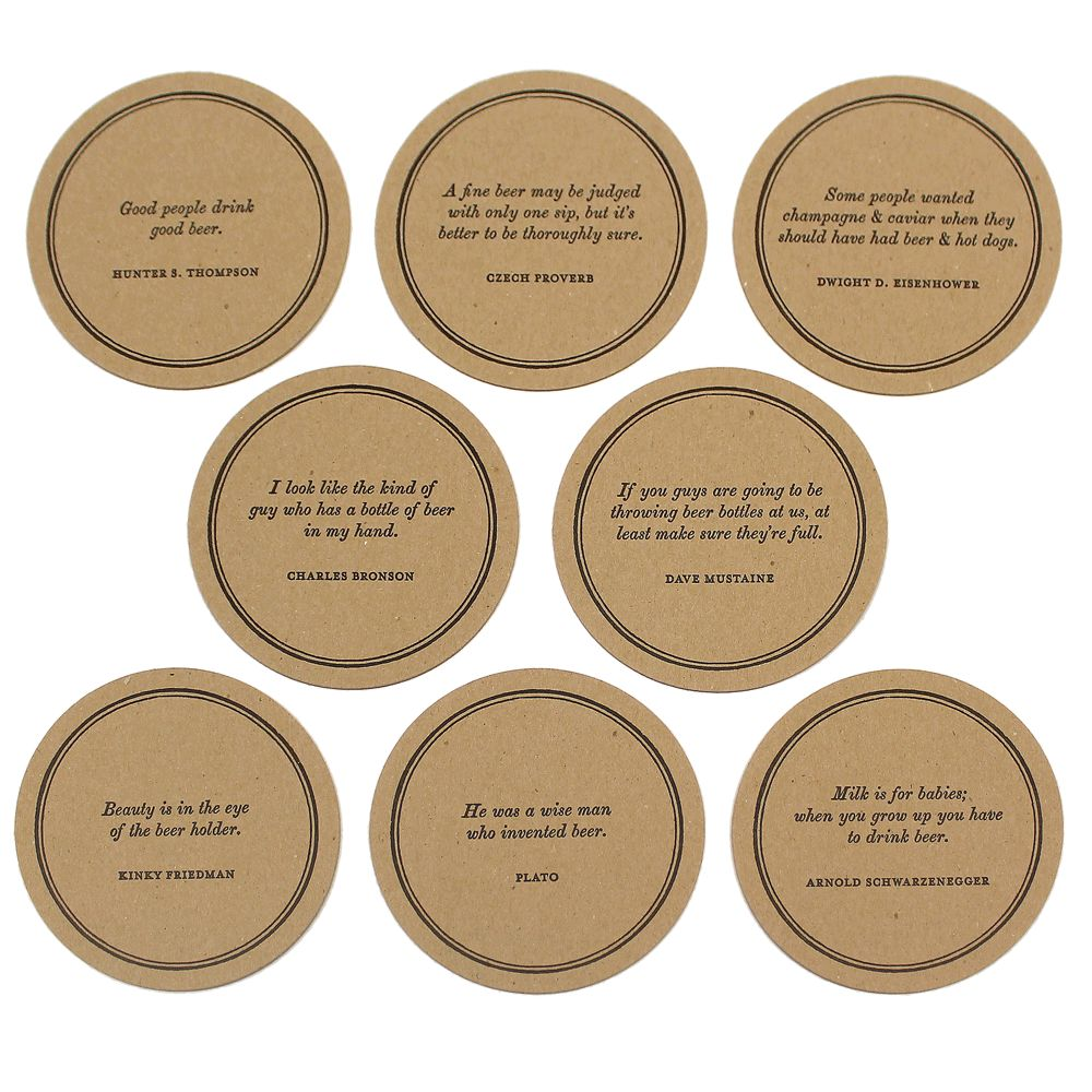 Beer Quote Coaster Set