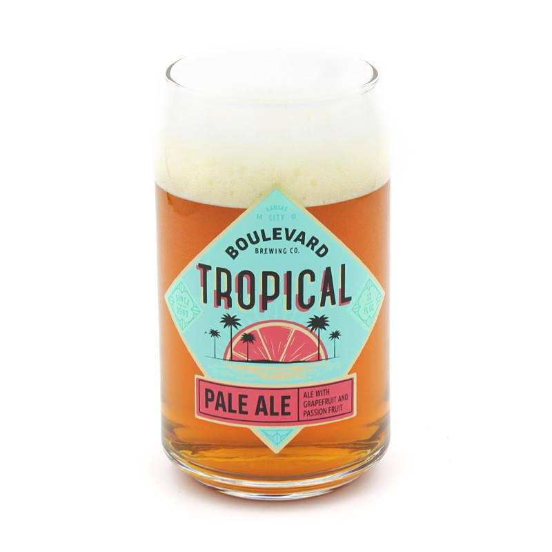 Tropical Pale Ale Can Glass
