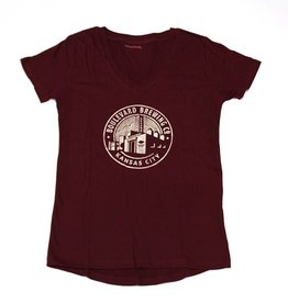 Women's Circle Brewery Tee maroon