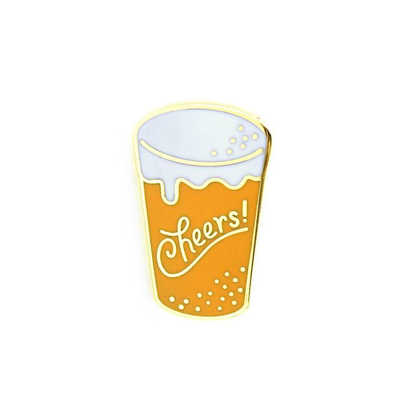 Cheers Enamel Pin
