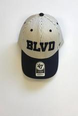 BLVD Navy Pinstripe Cap