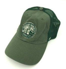 Brewery Logo Green Mesh Back Cap