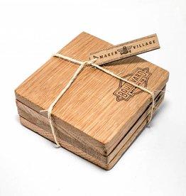 Reclaimed-Wood Coasters