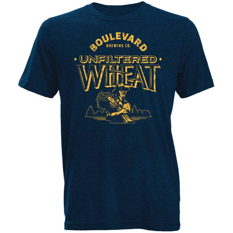 Unfiltered Wheat Navy Tee