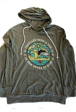 Traveled Near Tri-Blend Hooded Tee